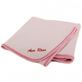 Personalized Double Zigzag Receiving Blanket - Pink