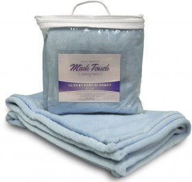 Mink Touch Baby Blanket - Baby Blue Case Pack 48