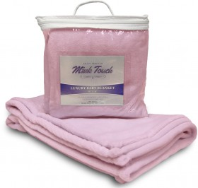 Mink Touch Baby Blanket - Soft Pink Case Pack 48