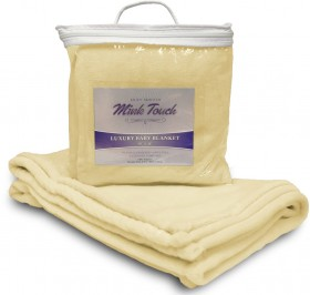 Mink Touch Baby Blanket - Soft Yellow Case Pack 48