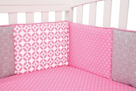 Trend Lab Nursery Kids Baby Product And Decorative Accessories Lily - Crib Bumpers