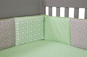Trend Lab Nursery Kids Baby Product And Decorative Accessories Lauren - Crib Bumpers
