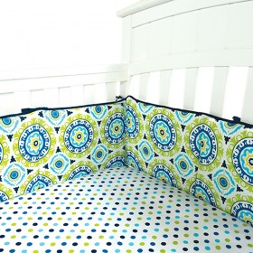 Trend Lab Home Indoor Baby Nursery Room Decorative Waverly Solar Flair Crib Bumpers