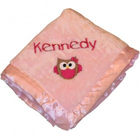 Pink Silky Baby Blanket - Tadpoles