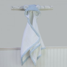 Light Blue Luxe Towel With Ears, Little Giraffe