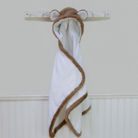 Mocha Brown Luxe Towel With Ears - Little Giraffe