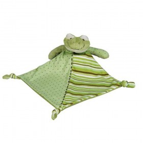 Frog Lovey - Green Jersey Blankie - Maison Chic