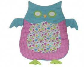 Pink & Blue Owl Nap Mat - Girl's Belly Blanket - Maison Chic