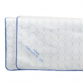 Swaddle Designs - Organic  Receiving Blanket  with Mod Circles - Blue