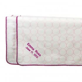 Swaddle Designs - Organic  Receiving Blanket  with Mod Circles - Pink