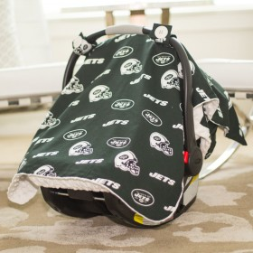 New York Jets Baby Gear: Carseat Canopy Cover, NFL Licensed