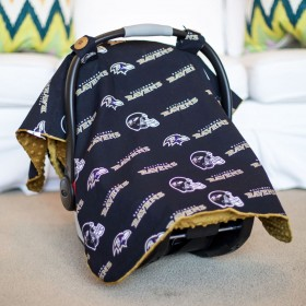 Baltimore Ravens Baby Gear: Carseat Canopy Cover, NFL Licensed