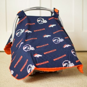 Denver Broncos Baby Gear: Carseat Canopy Cover, NFL Licensed