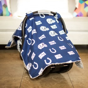Indianapolis Colts Baby Gear: Carseat Canopy Cover, NFL Licensed