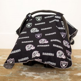 Oakland Raiders Baby Gear: Carseat Canopy Cover, NFL Licensed