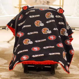 San Francisco 49ers Baby Gear: Carseat Canopy Cover, NFL Licensed