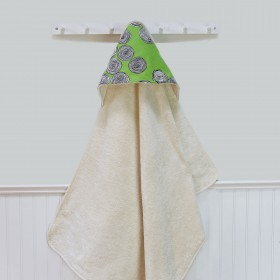 Organic Terry Hooded Towel - Green