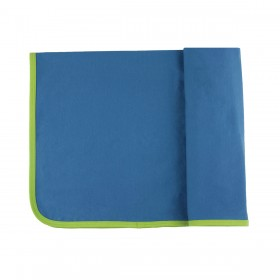 Personalized Ribbed Pima Cotton Blanket - blue