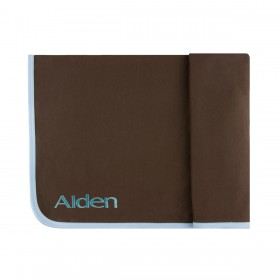 Personalized Ribbed Pima Cotton Blanket - brown