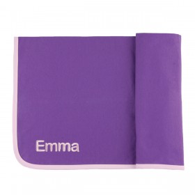 Personalized Ribbed Pima Cotton Blanket - Purple