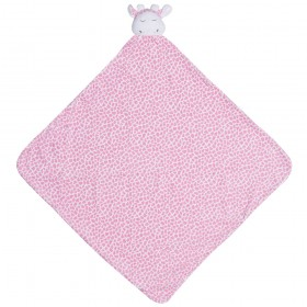 Pink Giraffe Nap Mat - Angel Dear Security Blanket