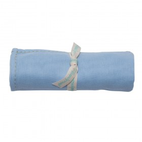 Poeme Et Poesie Handmade Top Stitch Border Swaddle - Blue