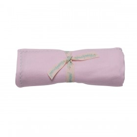 Poeme Et Poesie Handmade Top Stitch Border Swaddle - Pink