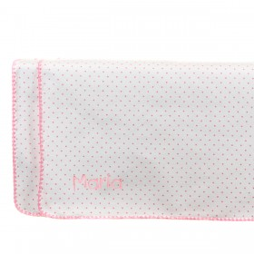 Swaddle Designs Receiving Blanket  - Polka Dots - Bright Pink