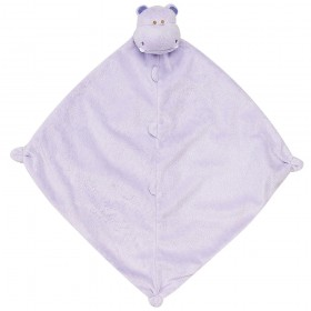 Purple Hippo Lovey - Angel Dear Animal Blankie