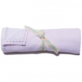 Poeme et Poesie Cotton Swaddle - Red Dot