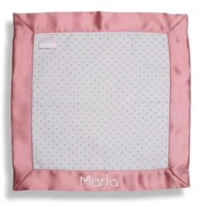Baby Blankie, Pink Polka Dots - SwaddleDesigns