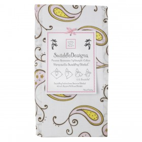 Swaddle Designs Marquisette Swaddle Paisley - Pastel Pink