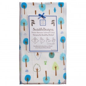 Swaddle Designs Marquisette Swaddle Cute & Wild - Blue