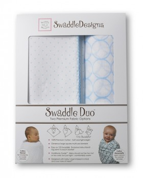 Swaddle Designs Classic Swaddle Duo - Pastel Blue