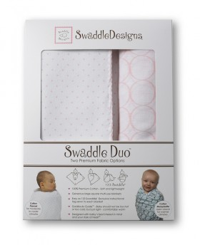 Swaddle Designs Classic Swaddle Duo - Pastel Pink