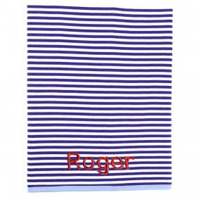 Striped Receiving Blanket - Blue