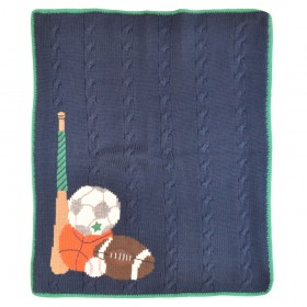 Sports Style Hand Stitched Stroller Blanket - Artwalk