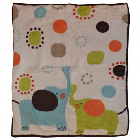 Elephant Walk Hand Stitched Stroller Blanket - Artwalk