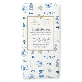 It's A Small World Blue Swaddle Blanket, Swaddle Designs