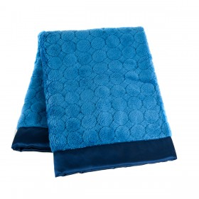 Swaddle Designs Puff Circles Stroller Blanket - True Blue
