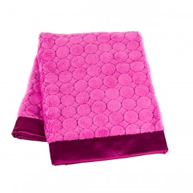 Swaddle Designs Puff Circles Stroller Blanket - Very Berry - Fuchsia / Hot Pink