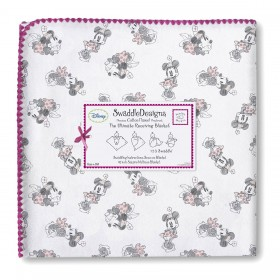 Minnie Mouse Red Ultimate Receiving Blanket, Swaddle Designs