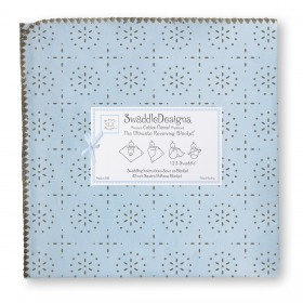 SwaddleDesigns Receiving Blanket - Sparklers - Blue