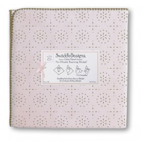 SwaddleDesigns Receiving Blanket - Sparklers - Pink