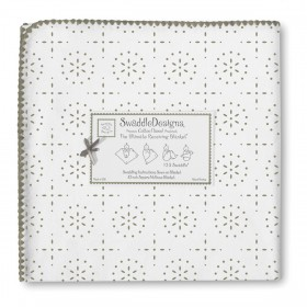 SwaddleDesigns Receiving Blanket - Sparklers - Sterling