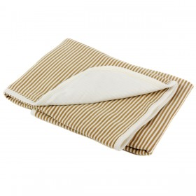 Organic Cotton Double Layered Blanket - Brown Stripes