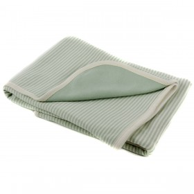 Organic Double Layered Blanket - Green Stripes