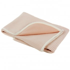 Organic Double Layered Blanket - Pink Stripes