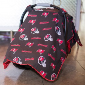 Tampa Bay Buccaneers Baby Gear: Carseat Canopy Cover, NFL Licensed