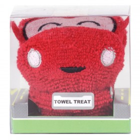 Towel Treat Wash Cloth - Red Car